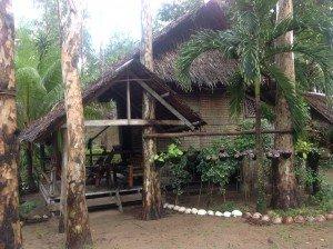 Notre hutte à Sugar Beach